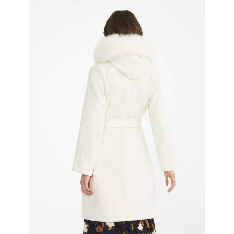 MAX MARA STUDIO  -  Wool Coat MANGO - White