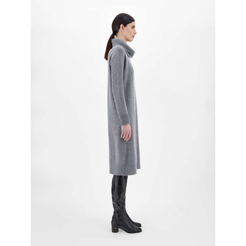 MAX MARA STUDIO - PAESE Wool and Cashmere Knit Dress - Blended Grey