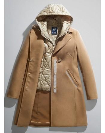 FAY - Cappotto DOUBLE COAT - Cammello Chiaro