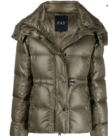 FAY - Short Down Jacket - Wood