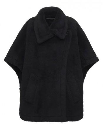 MAX MARA - MANCO Teddy Fabric Cape - Black