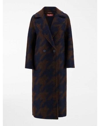 MAX MARA STUDIO  -  ROBINIA Wool Coat -Blue/Brown