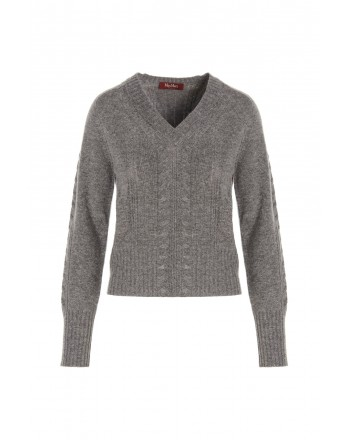 MAX MARA STUDIO - APPIA  Blended Cashmere Knit - Blended Grey