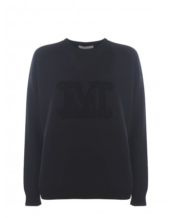 MAX MARA - GIOSTRA Wool and Cashmere Knit -Black