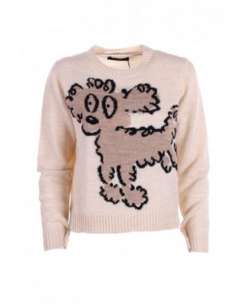 WEEKEND MAX MARA - ODESSA Blended  Wool Knit - Poodle Cream