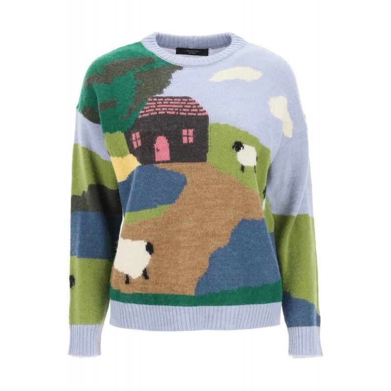 WEEKEND MAX MARA -  OLBIA Wool and Alpaca  Knit - Landscape