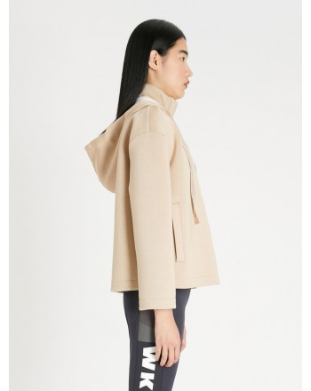 WEEKEND MAX MARA - ORMA Jersey Scuba Jacket -  Honey/Ivory