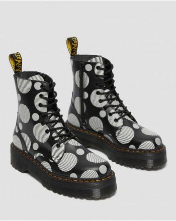 DR. MARTENS - Jadon Polka Boots 26882009 - Black / White