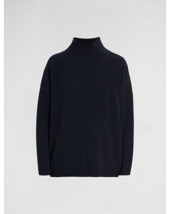 WEEKEND MAX MARA - ZURLO Wool Cloth Knit - Black