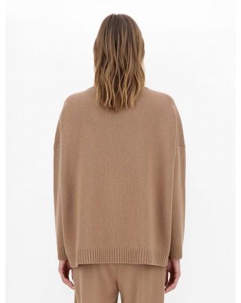 WEEKEND MAX MARA - ZURLO Wool Cloth Knit - Camel