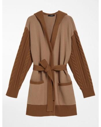 WEEKEND MAX MARA - GEISHA Wool Cardign Knit - Camel