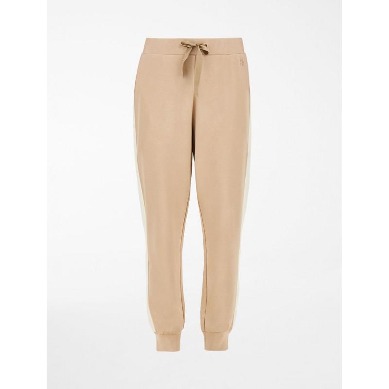 WEEKEND MAX MARA -  DOMINO Viscose Jersey Trousers - Honey/Ivory