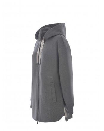 S MAX MARA - FADO Zipper Sweatshirt - Medium Grey