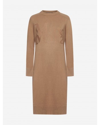 S MAX MARA - CURSORE Wool and Cashmere Dress - Camel