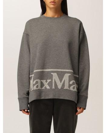 S MAX MARA - ELICA  Blended Cotton Sweatshirt - Medium Blended Grey
