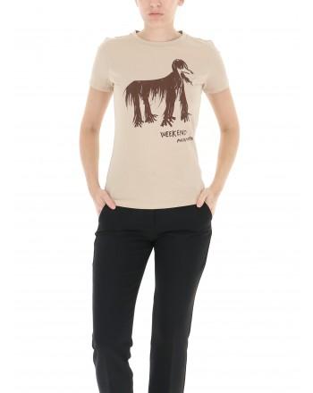 WEEKEND MAX MARA - RANA Printed T-Shirt - Greyhound