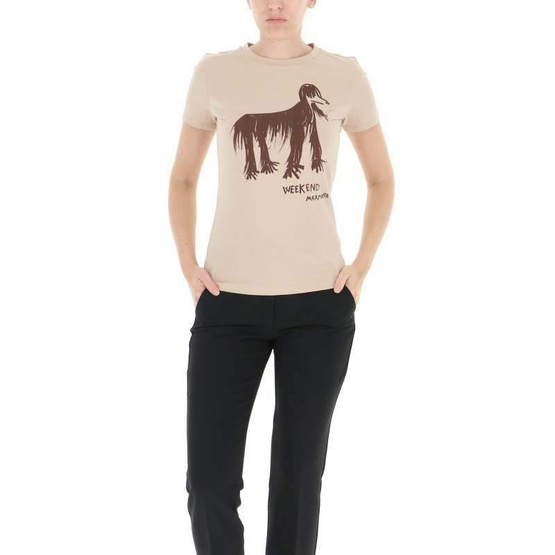 WEEKEND MAX MARA - T-Shirt RANA con Stampa - Levriero