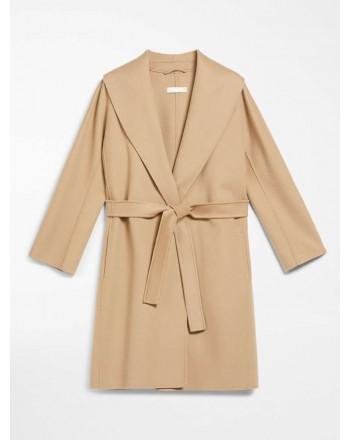 S MAX MARA - MESSI Wool Dressing Gown Coat - Camel