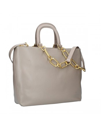 LOVE MOSCHINO - 2 Straps Stud Bag - Grey