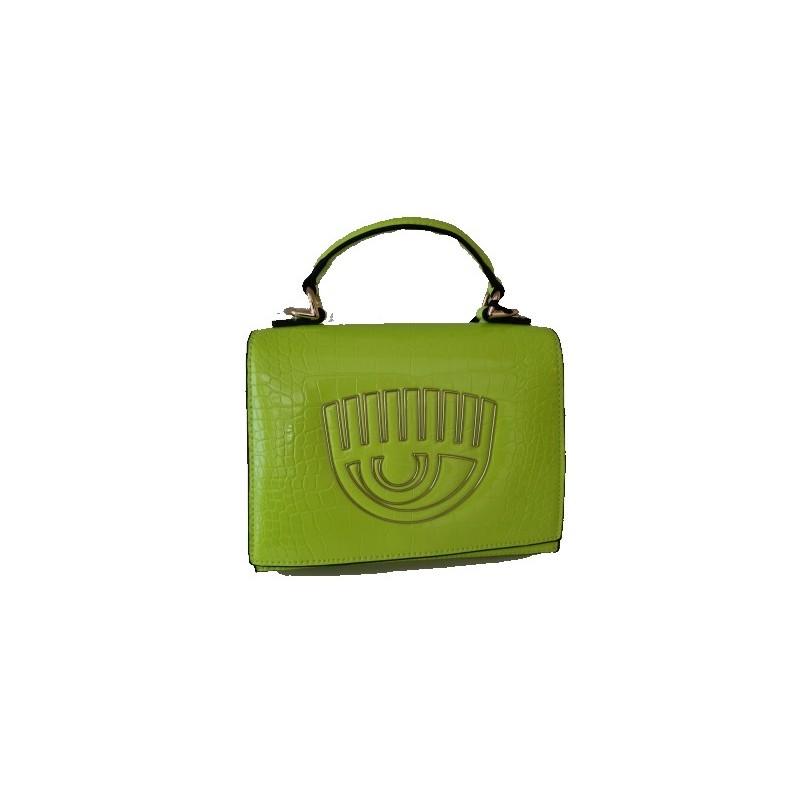 CHIARA FERRAGNI - Borsa in Pelle FRAME EYE - Neon Green