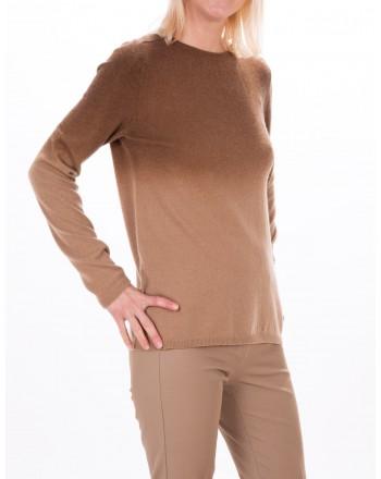 MAX MARA STUDIO - ZURIGO sweater in wool and cashmere - Ivory/Mud