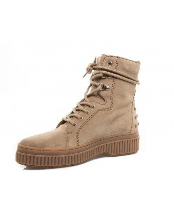 TOD'S - Suede Leather Boots with Gums Detail - Natural
