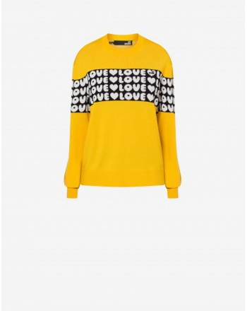 LOVE MOSCHINO - BOLD LOVE Blended Wool Knit