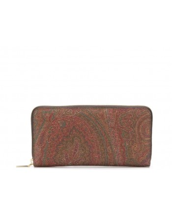 ETRO - Book Wallet with Zipper - Paisley