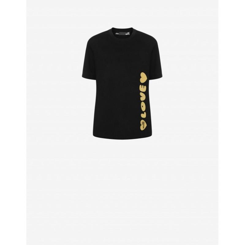 LOVE MOSCHINO - BOLD LOGO Cotton T-Shirt - Black