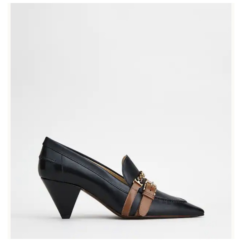 TOD'S - Moccasin with heel W01H0ET20I452442 - Black