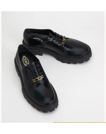 TOD'S - Leather lace-up W08J0EZ00SHAB999 - Black