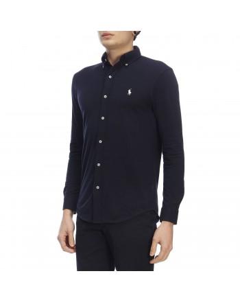 POLO RALPH LAUREN - Piquet shirt 710654408 - Navy