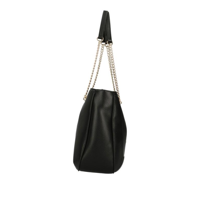 LOVE MOSCHINO - Metallic Heart Shopping Bag -Black