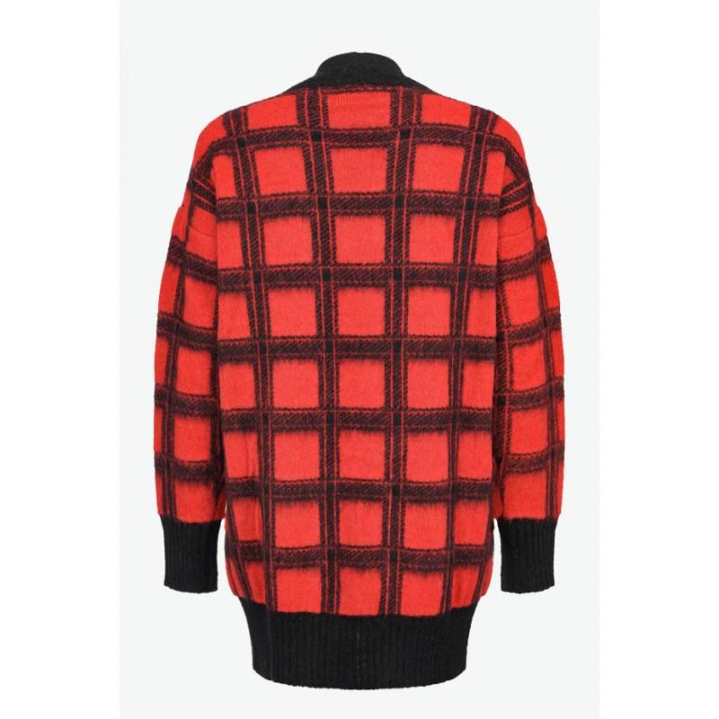 PINKO - CABREO Cardigan - Red/Black