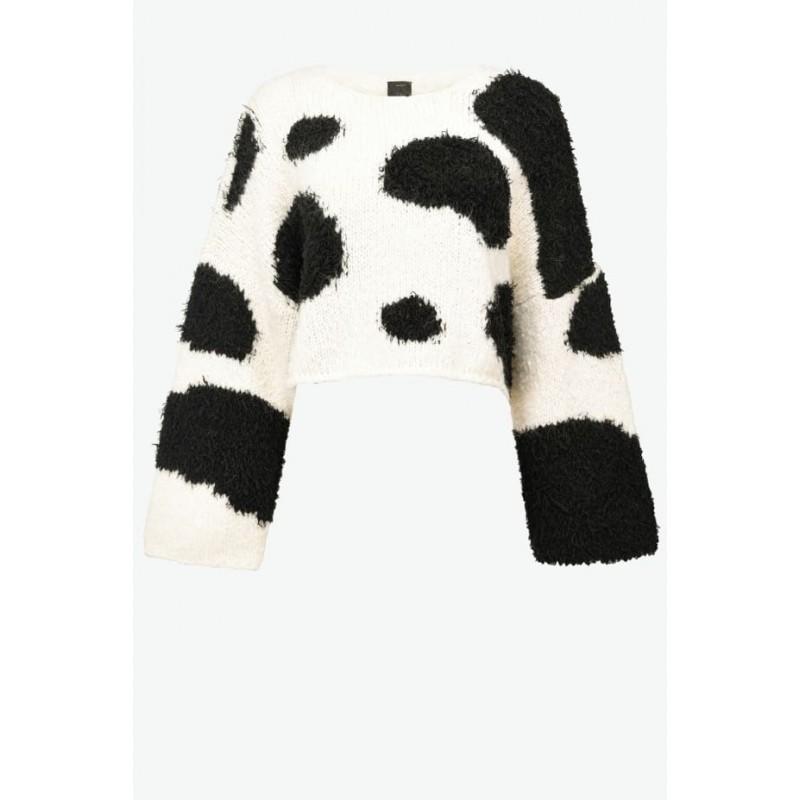 PINKO - TREGLIANO Pullover - White/Black