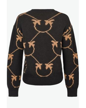 PINKO - ABBEY ROAD pullover - Black/ Camel