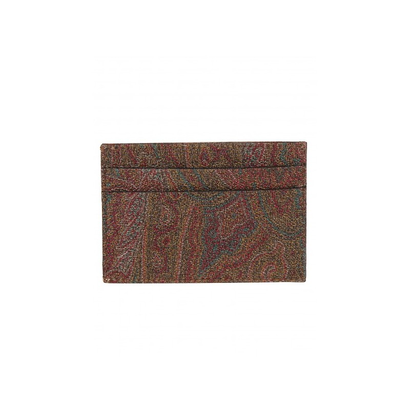 ETRO - Porta CC Book Paisley  0H7698007 -Tabacco