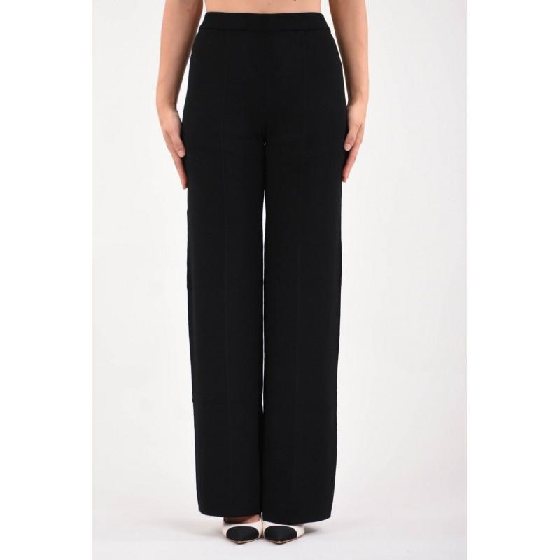 MAX MARA STUDIO - LUBIANA Wool Trousers - Black