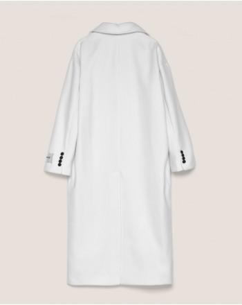 HINNOMINATE - Doublebreasted Cloth Coat - Cream