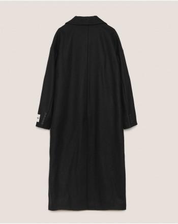 HINNOMINATE - Cappotto in Panno Doppiopetto - Nero