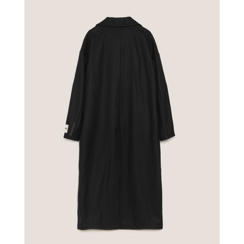 HINNOMINATE - Doublebreasted Cloth Coat - Black