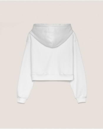 HINNOMINATE -Cotton Hood Sweatshirt  Hnwsfco07 -White