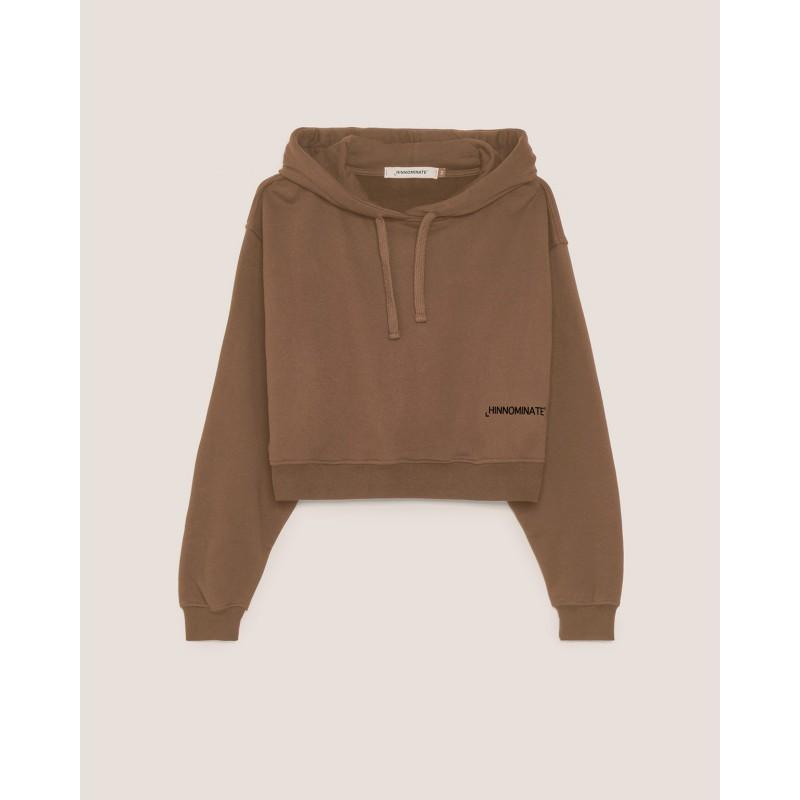 HINNOMINATE -Cotton Hood Sweatshirt  Hnwsfco07 - Coffee