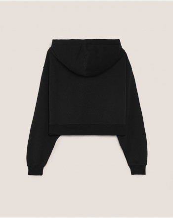 HINNOMINATE -Cotton Hood Sweatshirt  Hnwsfco07 -Black