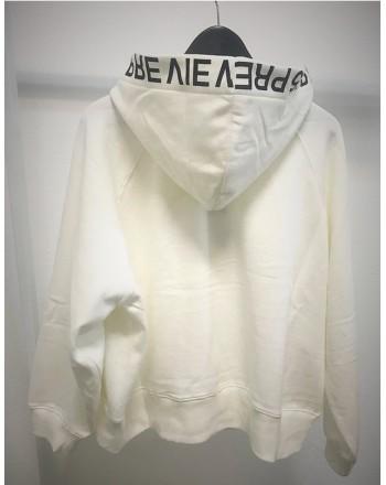 5 PREVIEW - Felpa in Cotone ELLIS HOOD - Bianco
