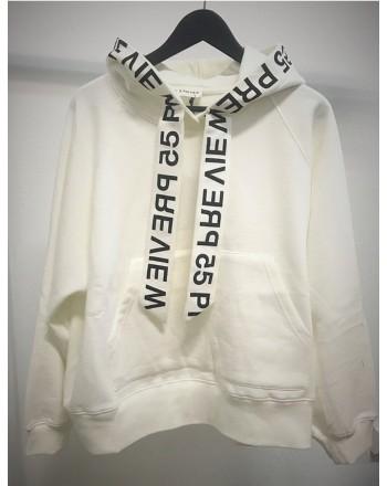 5 PREVIEW - ELLIS HOOD Cotton Fleece - White