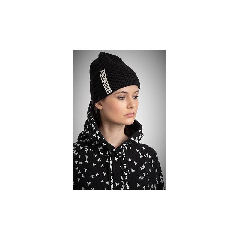 5 PREVIEW -Cappello in Misto Lana - Nero