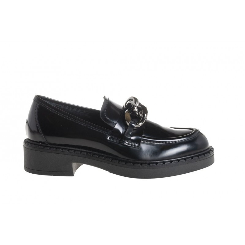 GUGLIELMO ROTTA - KHLOE Calf Leather Loafers - Black
