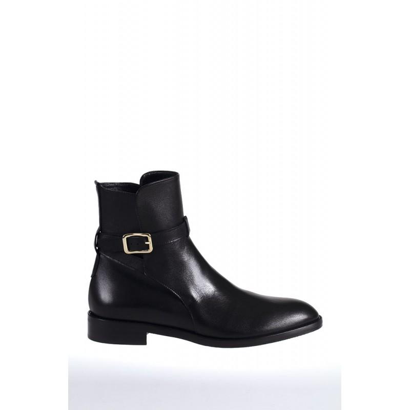 GUGLIELMO ROTTA - VIVYAN Calf Leather Beatles - Black
