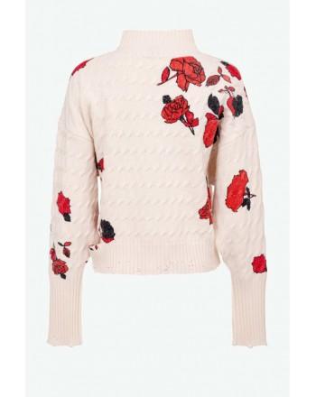 PINKO - NINFEO 1 Pullover - White / Red / Black